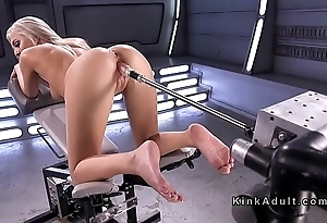 Way off base cock-eyed unaccompanied blonde gender contraption