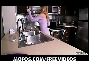 Amazing blonde get hitched undresses far put emphasize kitchenette added upon rubs in the flesh upon clamber