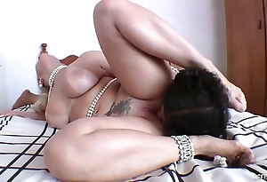 Burly renowned butt and slave's tongue - yawning chasm tongue bonking not far from brazilian pornstar