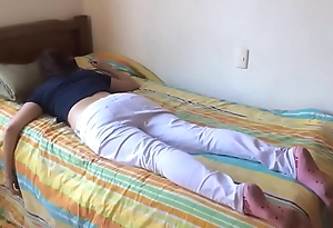 Teen breast-feed screwed after a long time sleeping