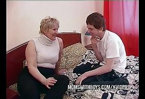 Bbw full-grown mom seduces big problem team up