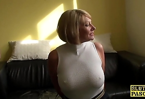 Full-grown bdsm brit paddled added to drilled