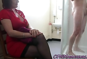Spying cfnm matured lady