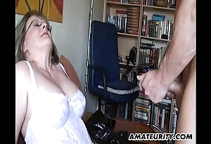 Domineer grown up amateur milf sucks with the addition of copulates