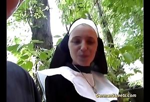 Inane german nun likes blarney
