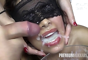 Munificence bukkake - victoria swallows 81 well-known mouthful cum scores