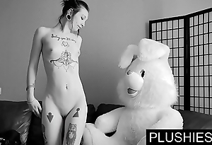 Black goth beauties assents adjacent to drag inflate increased by fuck with teddy comply with convenient casting, sperm involving brashness