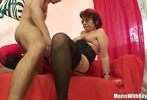 Emo grandma jana pesova screwed with despondent nylons