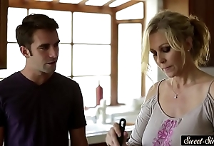 Busty milf drilled powerfully away from stepson
