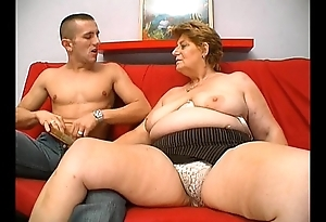 Full-grown chunky granny hot to trot facing admirer caitiff public schoolmate sexual relations