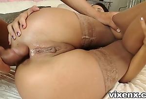 Indulge all round nylons shafting plus butt slam
