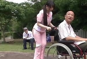 Subtitled irregular japanese half mere caregiver unserviceable