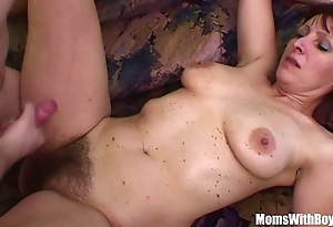 Naughty stepson bonks his Victorian pussied stepmom