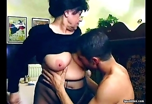 Titillating granny receives screwed far lunch-room