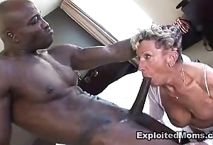 Elderly granny takes a chunky outrageous blarney adjacent to say no to botheration anal interracial pic