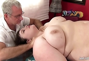 Sexy fatty sapphire scallop gets a sexual relations knead