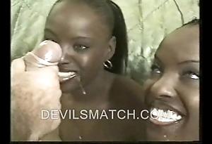 Twosome raven twins to anal bill